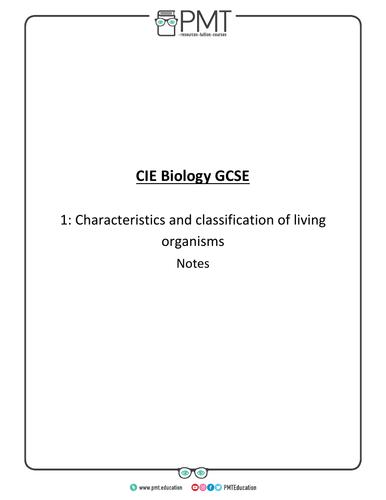 CIE IGCSE Biology Notes