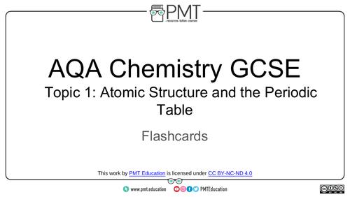 AQA GCSE Chemistry Flashcards