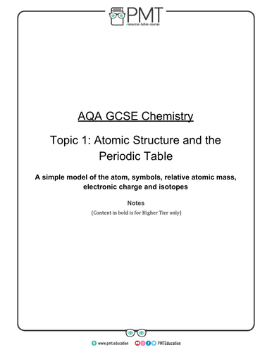 AQA GCSE Chemistry Detailed Notes (new 9-1 spec)
