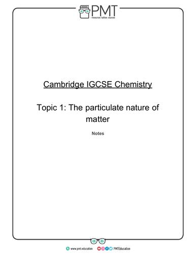 CIE IGCSE Chemistry Notes