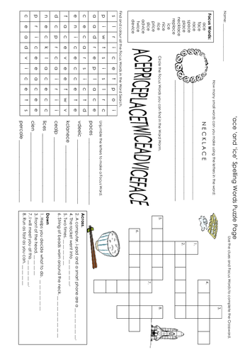 ace & ice Puzzle Page
