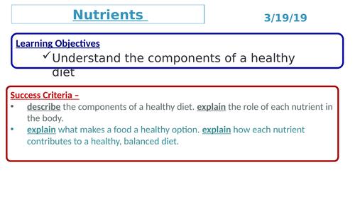 KS3 Science Nutrients
