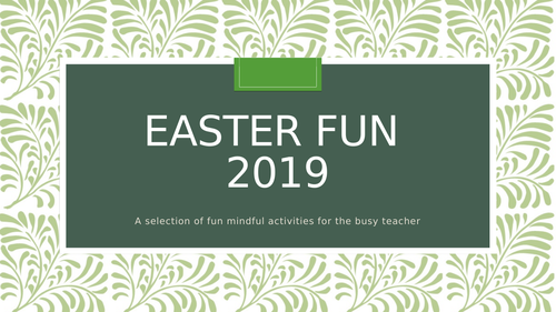 Easter activities - mindfulness