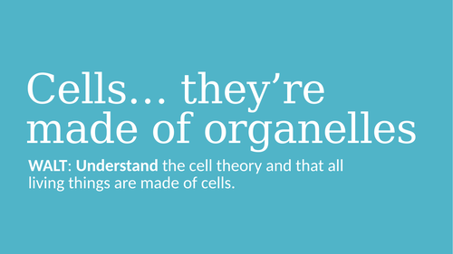 Cells... They're Made of Organelles PPT