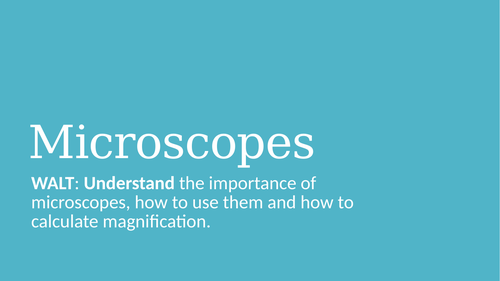 Microscopes and magnification PPT and worksheet