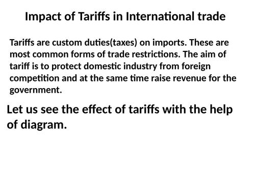 Impact-of-Tariffs/Quotas-in-International-trade