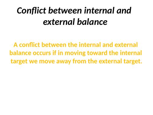 IB Conflict between internal and external balance
