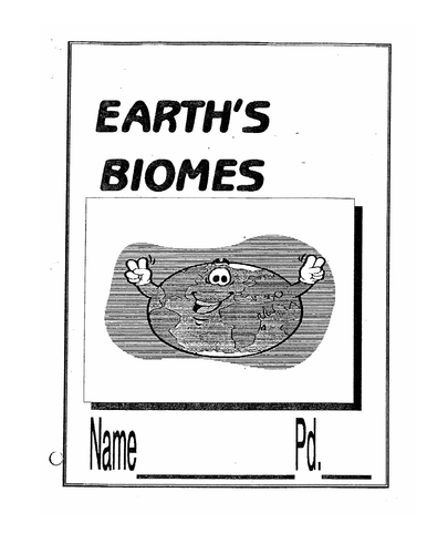 Biomes Booklet (44 pages of info, questions and fill in the blanks