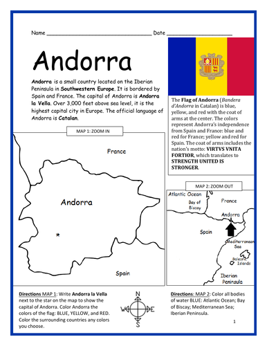 ANDORRA - Printable handout with simple map and flag by ... on simple maps to print, google maps, simple topographic maps, simple strategy maps, simple concept maps, simple french street in city maps, water well drilling ohio maps, simple maps for compass learning, around-town maps, learning about maps, simple maps for brochures, simple maps for invitations, cartoon preposition maps, printable street maps, simple story maps, simple line maps, amsterdam metro stations maps, maps bing directions maps, teaching preschoolers about neighborhood maps, mapquest driving directions maps,