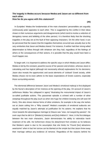 Essay about Euripides' Medea