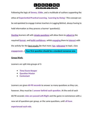 Teacher training - Question Practice