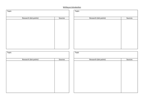 Scientific Introduction Planning