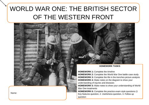 British Sector of the Western Front Key Stage 3 Booklet