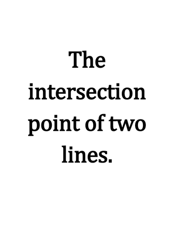 Intersecting lines exercises + answers.