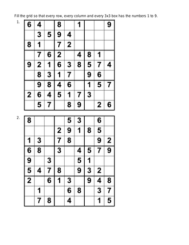 100 Sudoku Puzzles Plus Answers Easy Level Maths Logic Fun Critical