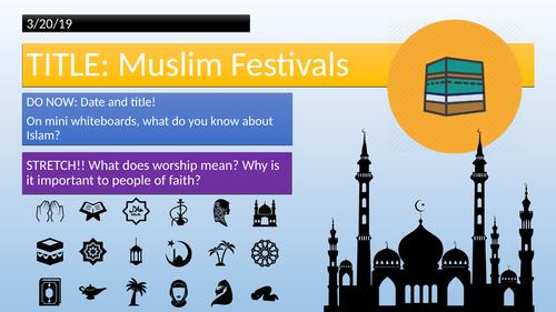 KS3 - Muslim Festivals - Eid