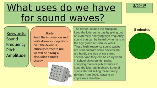 Uses of sound waves