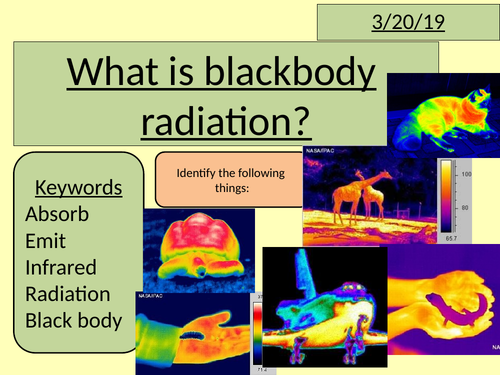 Black body radiation (GCSE physics)