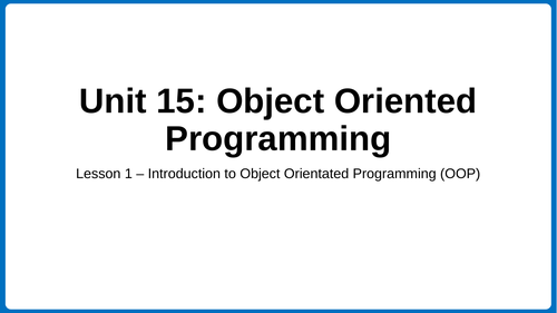 Understand the features of object oriented programming