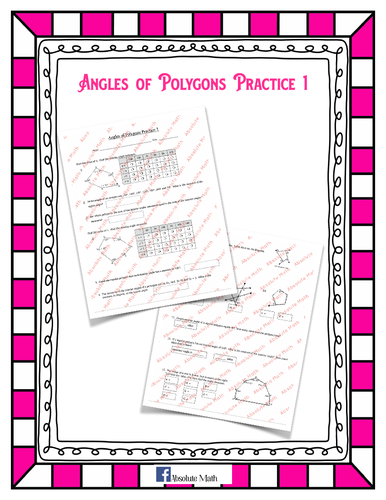 Angles of Polygons Practice 1
