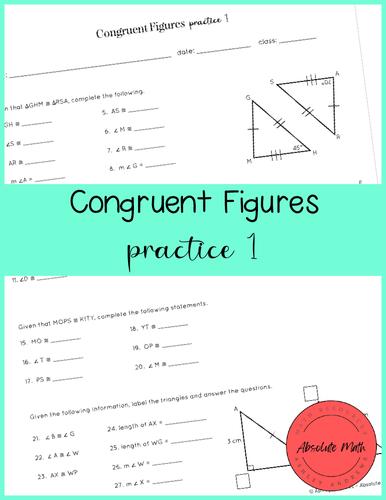 Congruent Figures Practice 1