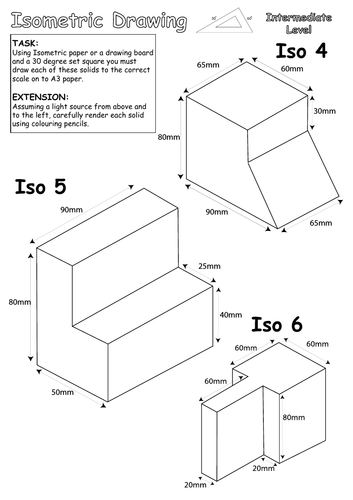 Isometric drawing tasks