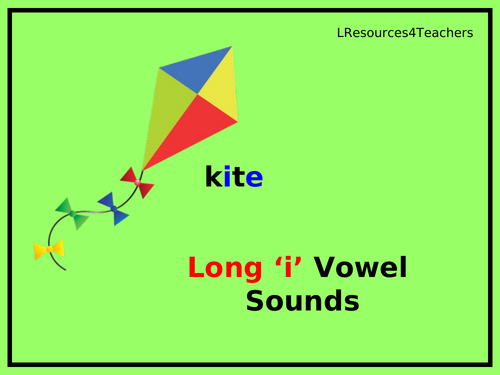 Phonics: Long  'i' vowel sounds