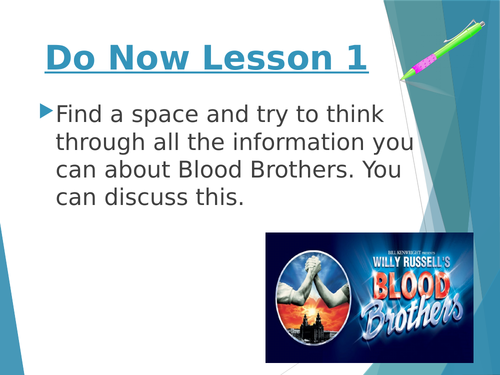 40+ Slide Blood Brothers Practical Exploration NEW Specs- with Exam questions