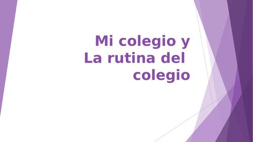Spanish GCSE School description & routine
