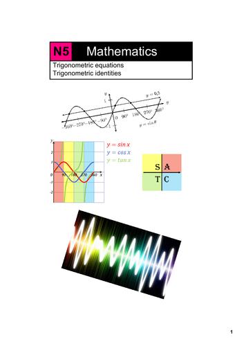 N5 Trigonometric equations and identities by MrGrayMaths