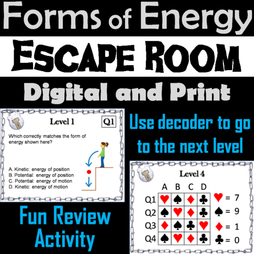 Forms of Energy Escape Room