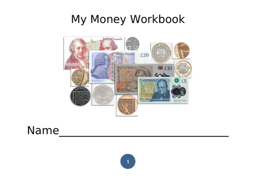 Money Workbook - Notes and Coins