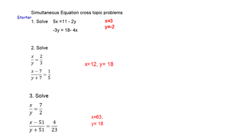 Simultaneous Equation across topics