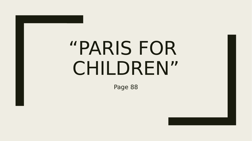 AQA Paris Anthology ROUGH GUIDES, NOT FOR PARENTS, FRENCH MILK