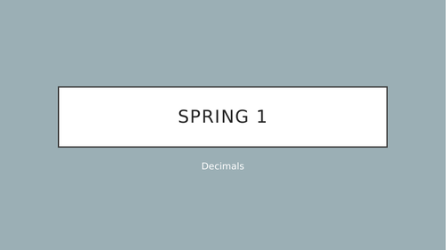 Year 6 decimals week sequence