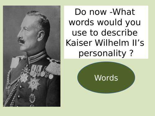 AQA history what problems did Kaiser Wilhelm face