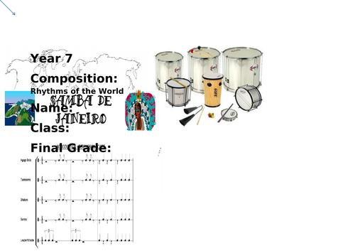 Booklet for Samba lessons KS3  incl. assessment and plenaries
