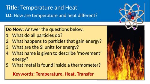 Physics - Temperature and heat
