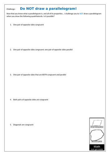 Investigation - Conditions for Parallelograms