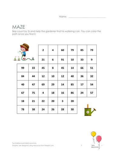 Gardeners maze: skip count by 2