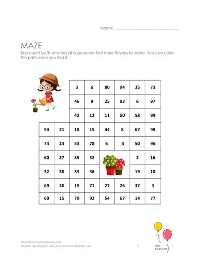 Gardeners maze: skip count by 3
