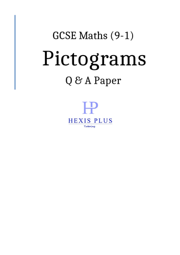 GCSE Maths 9-1,  Pictograms, Q and A Papers