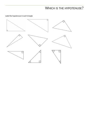 Label the hypotenuse