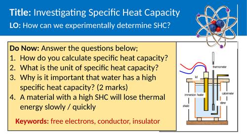 Physics - Specific Heat Capacity Practical