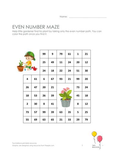 Even maze - gardening theme