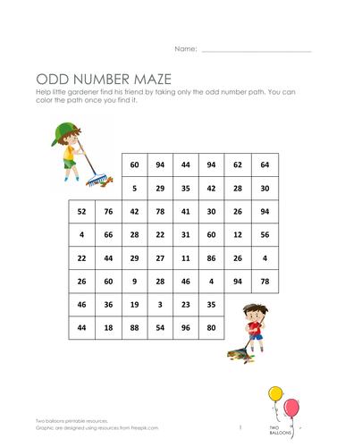 Odd maze - gardening theme