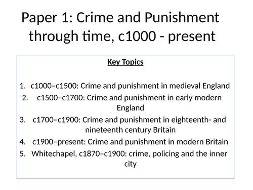 Anglo-Saxon Crime and Punishment (Edexcel GCSE History 9-1 Crime and Punishment)