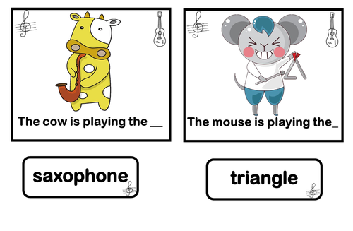 Animals concert.    Matching game.