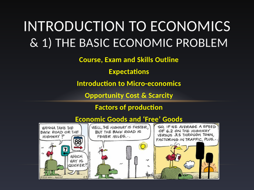 CIE iGCSE Unit 1 The Basic Economic Problem