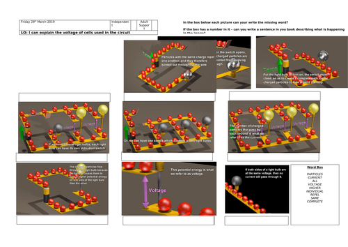 Voltage - How circuits work. Differentiated with Mark Scheme - Easily Adaptable to suit your class!